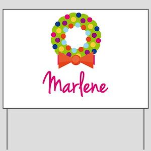 Christmas Wreath Marlene Yard Sign