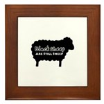 Black Sheep Are Still Sheep Framed Tile