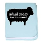 Black Sheep Are Still Sheep baby blanket