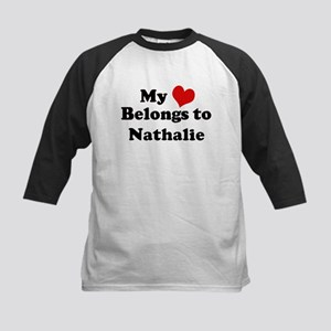My Heart: Nathalie Kids Baseball Jersey