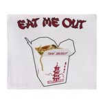 Eat Me Out Throw Blanket