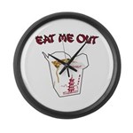 Eat Me Out Large Wall Clock