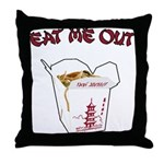 Eat Me Out Throw Pillow