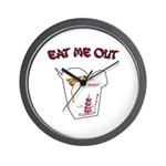 Eat Me Out Wall Clock