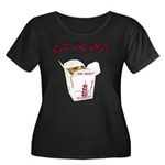 Eat Me Out Women's Plus Size Scoop Neck Dark T-Shi