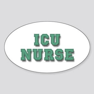 ICU Nurse Sticker (Oval)