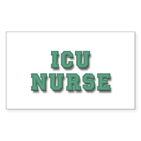 ICU Nurse Sticker (Rectangle)