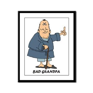 Bad Grandpa Framed Panel Print