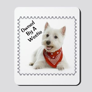 Owned By A Westie 123 Mousepad