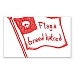 Flags Breed Hatred Sticker (Rectangle 50 pk)