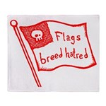 Flags Breed Hatred Throw Blanket
