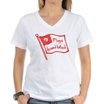 Flags Breed Hatred Women's V-Neck T-Shirt