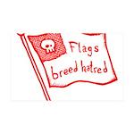 Flags Breed Hatred 38.5 x 24.5 Wall Peel