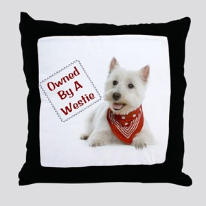 Own By A Westie 125 Throw Pillow