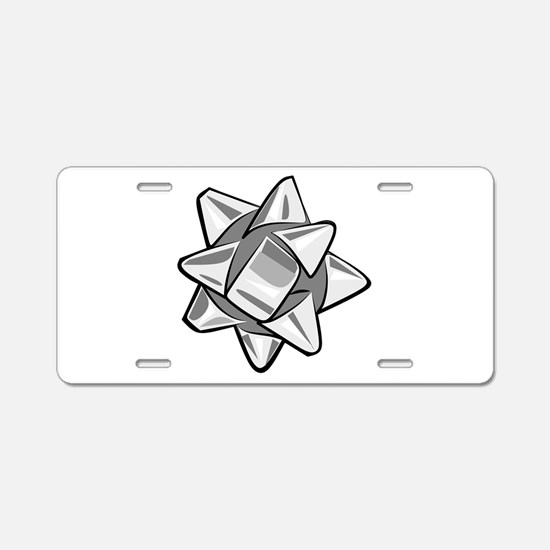 Silver Bow Aluminum License Plate