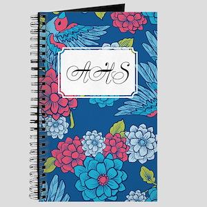 Bird Romantic Blue Journal