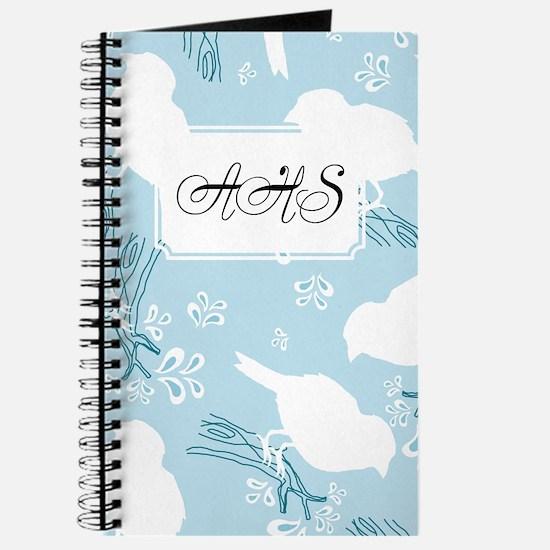 Bird Silohuette Blue Journal