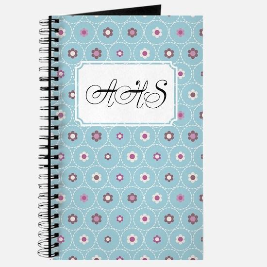 Dot Flower Blue Journal