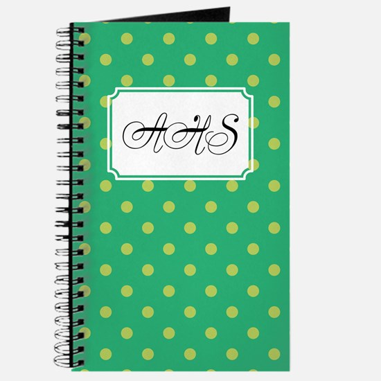 Diagonal Dots Green Journal