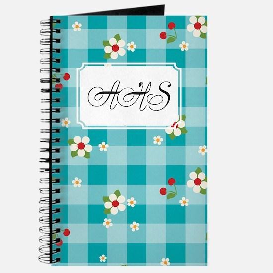 Flower Gingham Blue Journal