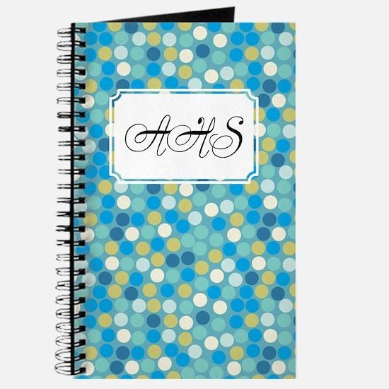 Mosaic Dots Blue Journal
