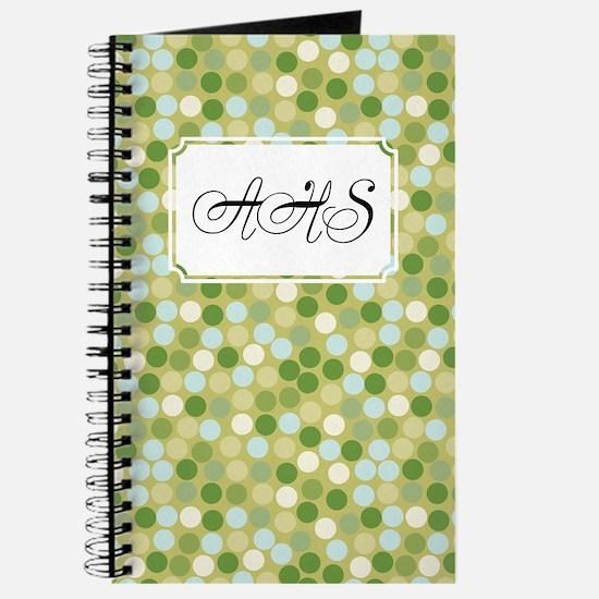 Mosaic Dots Green Journal