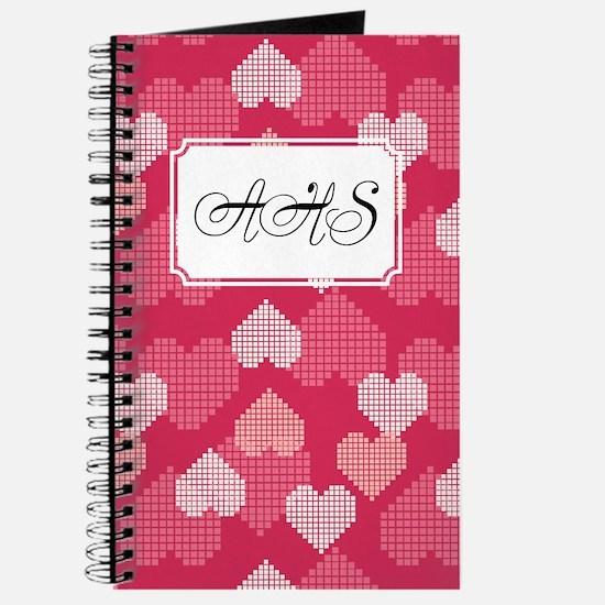 Geometric Hearts Pink Journal