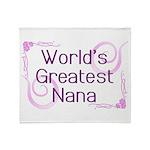 World's Greatest Nana Throw Blanket