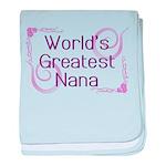 World's Greatest Nana baby blanket