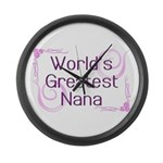 World's Greatest Nana Large Wall Clock