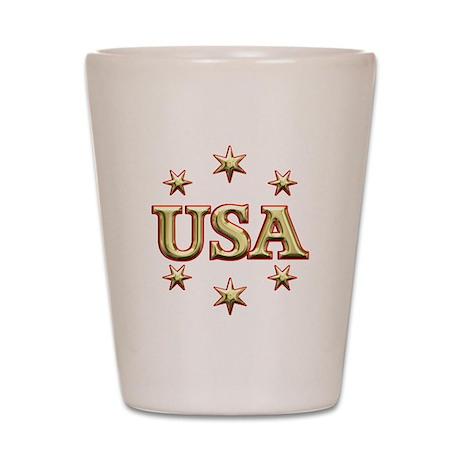 USA Gold Shot Glass