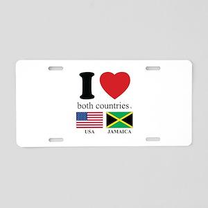 USA-JAMAICA Aluminum License Plate