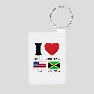 USA-JAMAICA Aluminum Photo Keychain