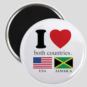 USA-JAMAICA Magnet