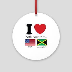 USA-JAMAICA Ornament (Round)