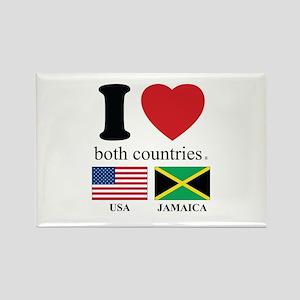USA-JAMAICA Rectangle Magnet