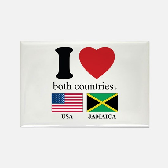 USA-JAMAICA Rectangle Magnet