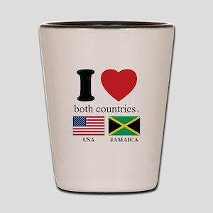 USA-JAMAICA Shot Glass