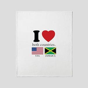 USA-JAMAICA Throw Blanket