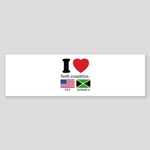 USA-JAMAICA Sticker (Bumper)