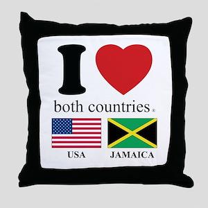 USA-JAMAICA Throw Pillow