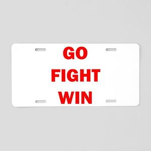 GO FIGHT WIN™ Aluminum License Plate