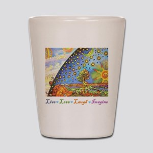 Live Love Laugh Imagine Shot Glass