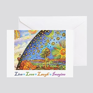 Live Love Laugh Imagine Greeting Cards (Pk of 10)