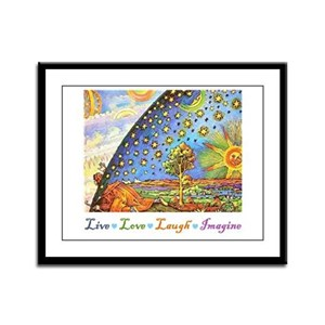 Live Love Laugh Imagine Framed Panel Print