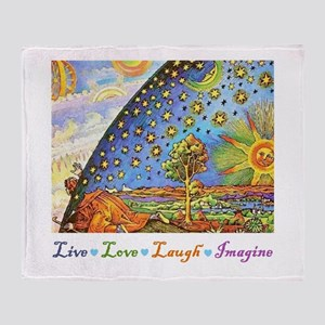 Live Love Laugh Imagine Throw Blanket