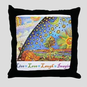 Live Love Laugh Imagine Throw Pillow