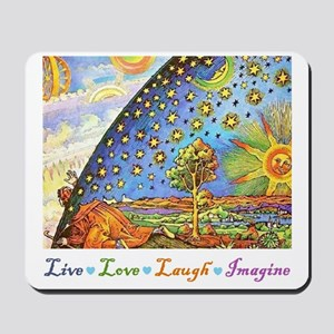 Live Love Laugh Imagine Mousepad