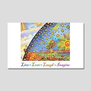 Live Love Laugh Imagine Car Magnet 20 x 12
