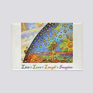 Live Love Laugh Imagine Rectangle Magnet